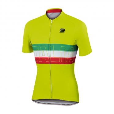 Sportful Italia IT Radtrikot Gelb Herren