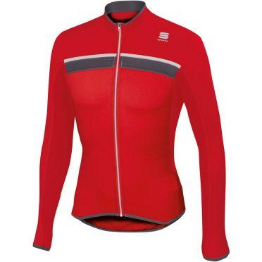 Sportful Pista Longsleeve Jersey Rot/Weiß Herren