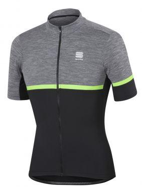 Sportful Giara Jersey Kurzarm Radtrikot Anthrazit/Grün Herren