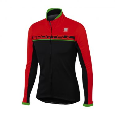 Sportful Giro softshell Jacke Schwarz/Rot/Grün Herren