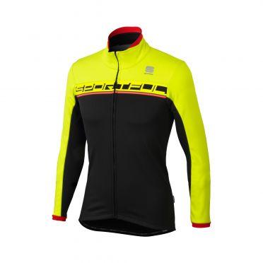 Sportful Giro softshell Jacke Schwarz/Gelb Herren