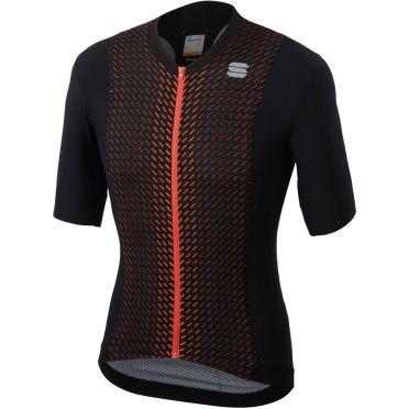 Sportful R&D celsius jersey Kurzarm Radtrikot Schwarz/Orange Herren