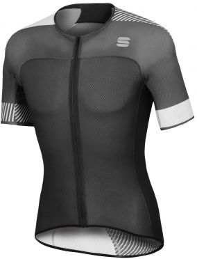 Sportful Bodyfit pro light jersey Kurzarm Radtrikot Schwarz/Weiß Herren