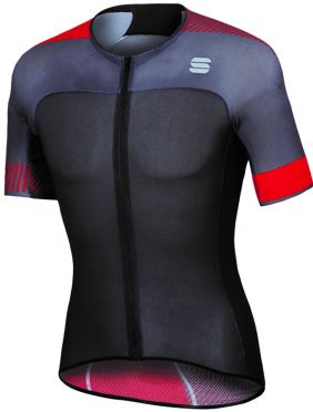 Sportful Bodyfit pro light jersey Kurzarm Radtrikot Schwarz/Rot Herren