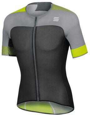 Sportful Bodyfit pro light jersey Kurzarm Radtrikot Schwarz/Gelb Fluo Herren