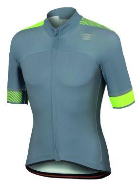 Sportful Bodyfit pro classics jersey Kurzarm Radtrikot Grau/Gelb Fluo Herren