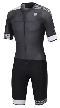 Sportful Bodyfit pro Speedsuit Kurze Ärmel Schwarz/Weiß Herren