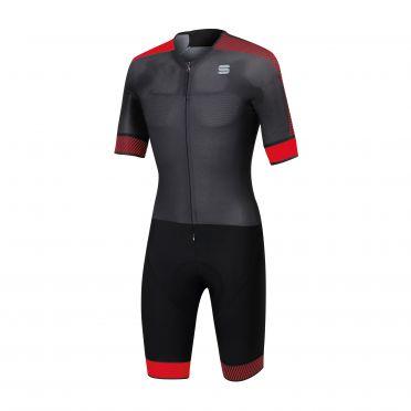Sportful Bodyfit pro Speedsuit Kurze Ärmel Schwarz/Rot Herren