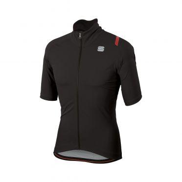 Sportful Fiandre ultimate 2 WS Kurzarm Jacket Schwarz Herren
