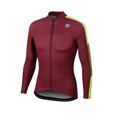 Sportful Bodyfit Pro thermal Langarm Radtrikot Lila/Gelb Herren