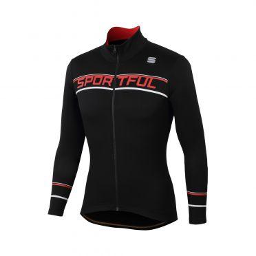 Sportful Giro thermal Langarm Radtrikot Schwarz Herren