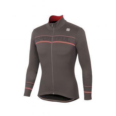 Sportful Giro thermal Langarm Radtrikot Braun Herren