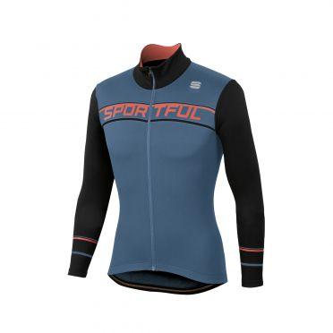 Sportful Giro thermal Langarm Radtrikot Blau/Schwarz Herren