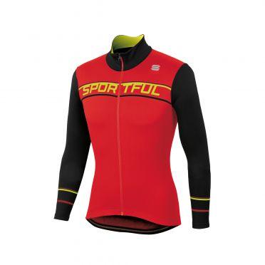 Sportful Giro thermal Langarm Radtrikot Rot/Schwarz Herren