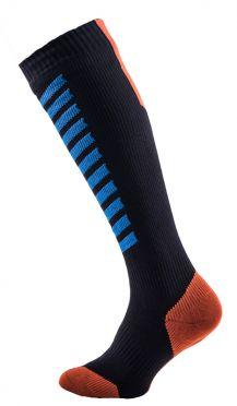 Sealskinz MTB mid knee Radsocken Schwarz/Blau/Orange