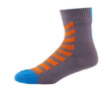 Sealskinz MTB Ankle with Hydrostop Radsocken Anthrazit/Orange/Blau