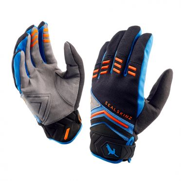 SealSkinz Dragon eye MTB Radhandschuhe Schwarz/Blau/Orange