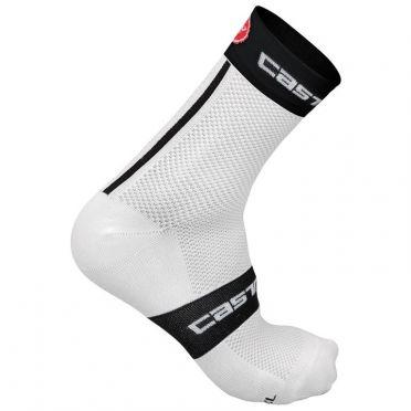 Castelli Free 9 Sock Weiß/Schwarz Herren