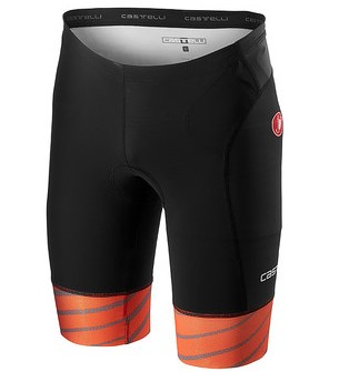 Castelli Free tri Short Schwarz/Orange Herren