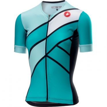 Castelli Free Speed W Race Jersey Tri Top Grün/Blau Damen