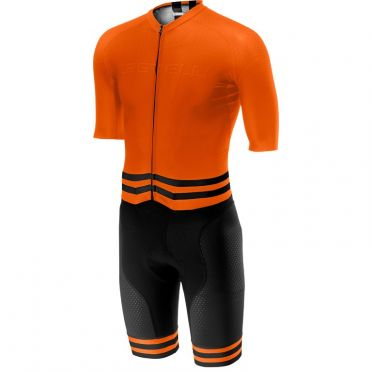 Castelli Sanremo 4.0 speed suit Kurzarm Schwarz/Orange Herren