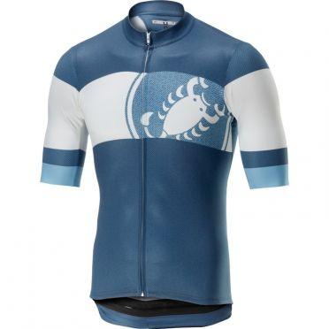 Castelli Ruota Jersey Kurzarmtrikot Blau