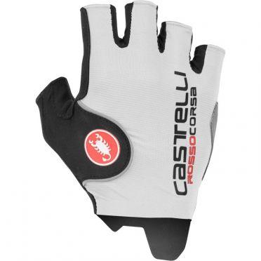 Castelli Rosso Pro Radhandschuhe Weiß Herren