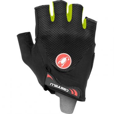 Castelli Arenberg gel 2 glove Schwarz/Gelb Fluo Herren