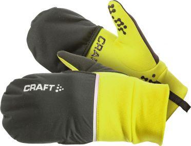 Craft Hybrid weather Laufhandschuhe Gelb
