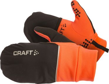 Craft Hybrid weather Laufhandschuhe Orange