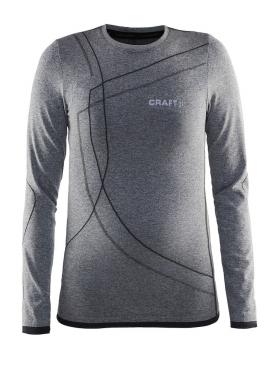 Craft Active Comfort RN Langarm-Unterhemd Schwarz Kinder