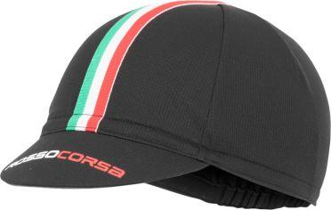 Castelli Rosso Corsa Fahrradkappe Schwarz Herren
