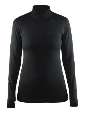 Craft Active Comfort Zip lange Ärmel Unterwäsche Schwarz/solid Damen