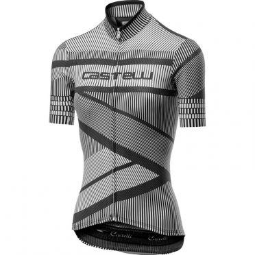 Castelli Millerighe Jersey Schwarz/Weiß Damen
