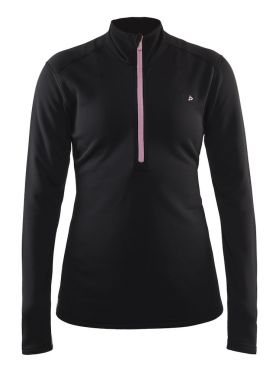 Craft Sweep halfzip Ski Pullover Schwarz/Rosa Damen