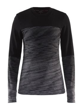 Craft Wool Comfort 2.0 Langarm Unterwäsche Schwarz Damen