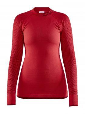 Craft Warm Intensity CN Langarm Unterwäsche Rot Damen