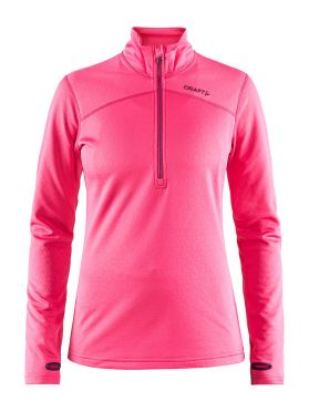 Craft Pin halfzip Ski Pullover Rosa Damen