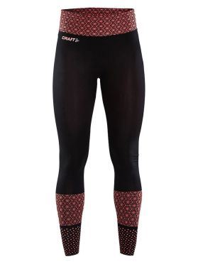 Craft Core block Laufhose Tight Schwarz/Rot Damen