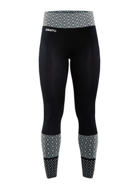 Craft Core block Laufhose Tight Schwarz/Weiß Damen