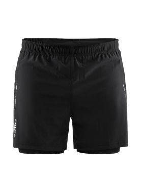 Craft Essential 2-in-1 Laufshort Schwarz Herren