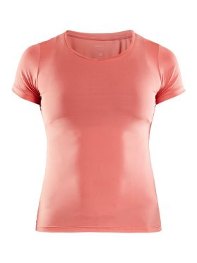 Craft Essential V-neck Kurzarm Unterhemd Rosa Damen