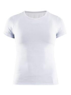 Craft Essential V-neck Kurzarm Unterhemd Weiß Damen
