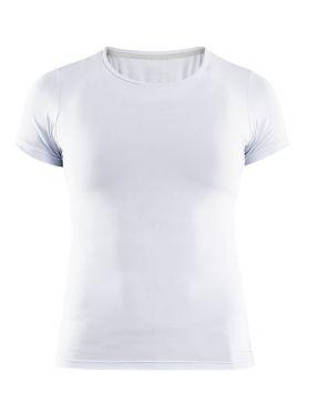 Craft Essential Kurzarm Unterhemd Weiß Damen