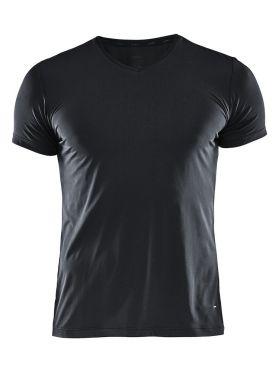 Craft Essential V-neck Kurzarm Unterhemd Schwarz Herren
