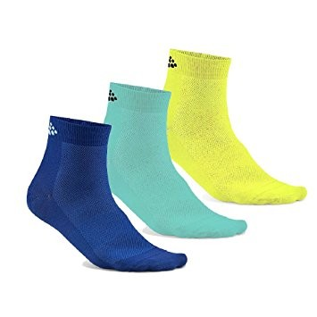 Craft Greatness Mid Socken Blau/Grün/Gelb 3-pack