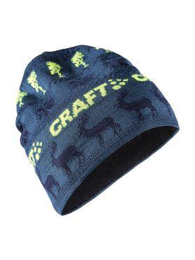 Craft Retro knit Mütze Blau/Gelb