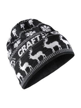 Craft Retro knit Mütze Schwarz/Weiß