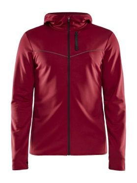 Craft Eaze FZ sweat hood Laufjacke Rot Herren