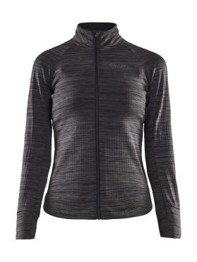 Craft Ideal Thermal Radtrikot Lange Armel Schwarz/Grau Damen